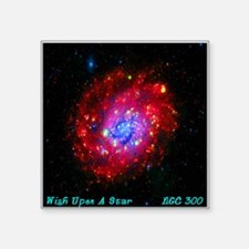 """Wish Upon A Star NGC 300 Square Sticker 3"""" x 3"""""""