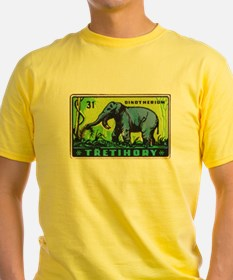 Deinotherium Czechoslovakia Matchbox Label T-Shirt