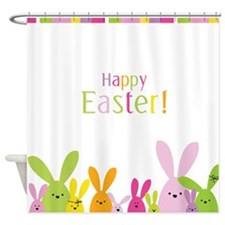 Easter Rabbits Shower Curtain