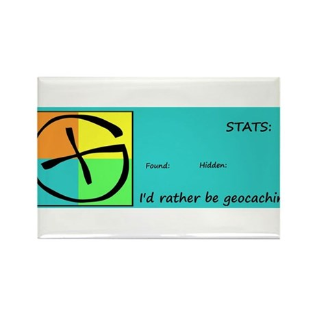 I'd rather be Geocaching! Rectangle Magnet
