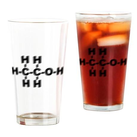 Drunken Ethanol Molecule Drinking Glass