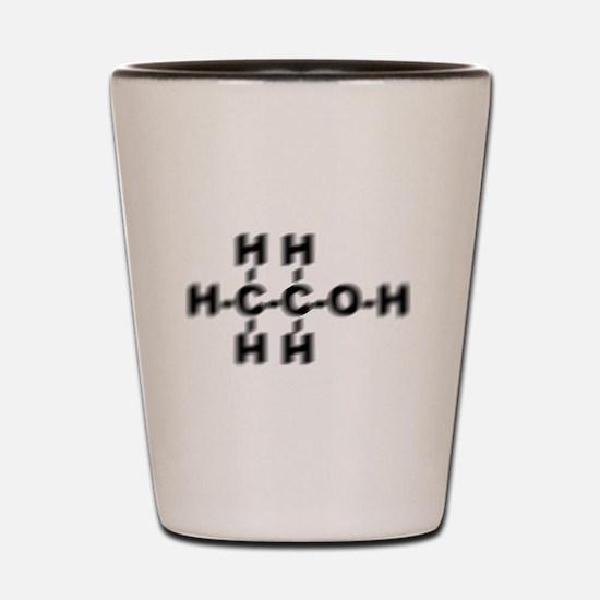 Drunken Ethanol Molecule Shot Glass