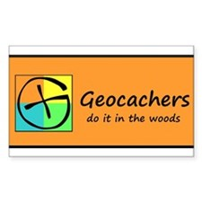 Geocachers do it in the woods! Decal