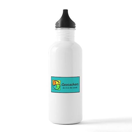 Geocachers do it in the woods Water Bottle