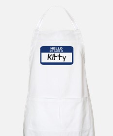 Hello: Kitty BBQ Apron