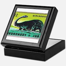 Diplodocus Dinosaur Czechoslovakia Matchbox Label