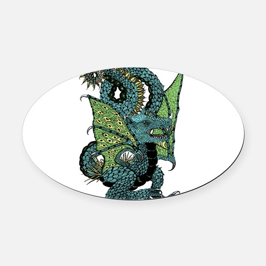 Wyvern Grotesque Oval Car Magnet