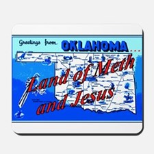 Land of meth and jesus Mousepad