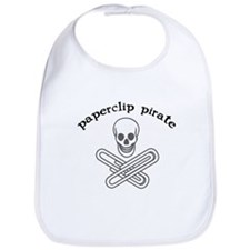 """Paperclip Pirate"" Bib"