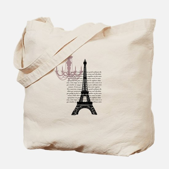 Paris Chandelier Tote Bag