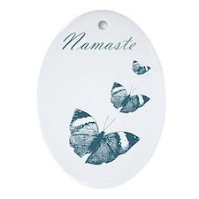 Namaste Butterflies Ornament (Oval)