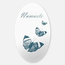 Namaste Butterflies Decal