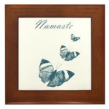Namaste Butterflies Framed Tile