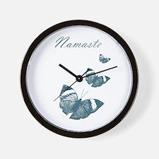 Namaste Butterflies Wall Clock