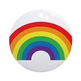 Rainbow Round Ornaments