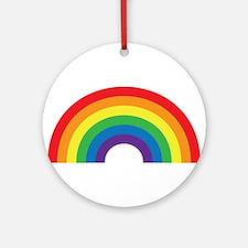 Gay Rainbow Ornament (Round)