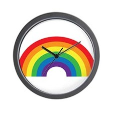 Gay Rainbow Wall Clock