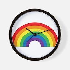 Gay Rainbow Wall Clock
