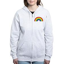 Gay Rainbow Zip Hoodie