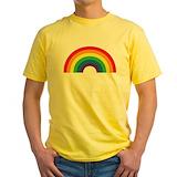 Rainbow Mens Classic Yellow T-Shirts
