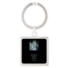 Legend of the Horse Square Keychain