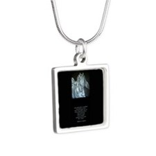 Legend of the Horse Silver Square Necklace
