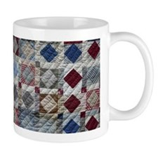 Squares and Diamonds Quilt Small Small Mug