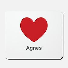 Agnes Big Heart Mousepad