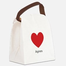 Agnes Big Heart Canvas Lunch Bag