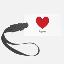 Agnes Big Heart Luggage Tag