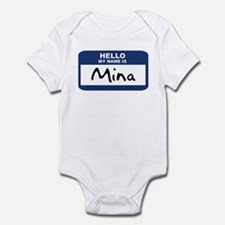 Hello: Mina Infant Bodysuit