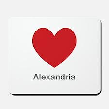 Alexandria Big Heart Mousepad