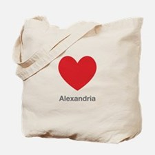 Alexandria Big Heart Tote Bag