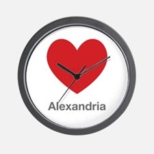 Alexandria Big Heart Wall Clock