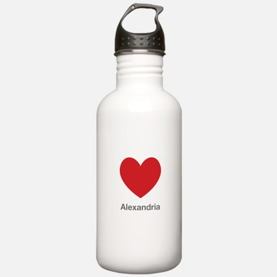 Alexandria Big Heart Water Bottle