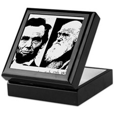 Abraham Lincoln & Charles Darwin Keepsake Box