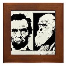 Abraham Lincoln & Charles Darwin Framed Tile