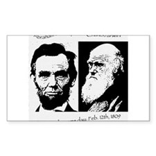 Abraham Lincoln & Charles Darwin Decal