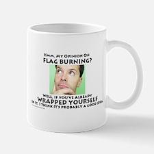 Flag Burning Mug