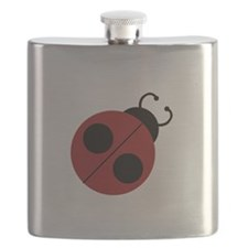Cute Red Ladybug Flask