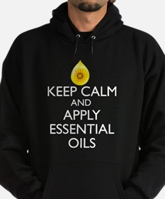 Keep Calm and Apply Essential Oils Hoodie
