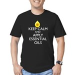 Keep Calm and Apply Es Men's Fitted T-Shirt (dark)