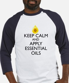 Keep Calm and Apply Essential Oils Baseball Jersey