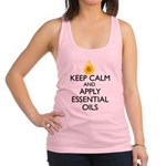 Keep Calm and Apply Essential O Racerback Tank Top