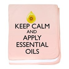 Keep Calm and Apply Essential Oils baby blanket