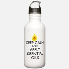 Keep Calm and Apply Es Water Bottle