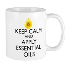 Keep Calm and Apply Essential Oils Mug