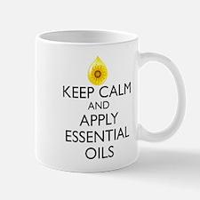 Keep Calm and Apply Essential Oils Mug