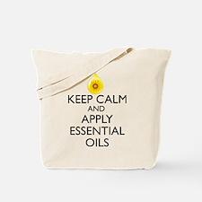 Keep Calm and Apply Essential Oils Tote Bag