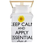 Keep Calm and Apply Essential Oils Twin Duvet